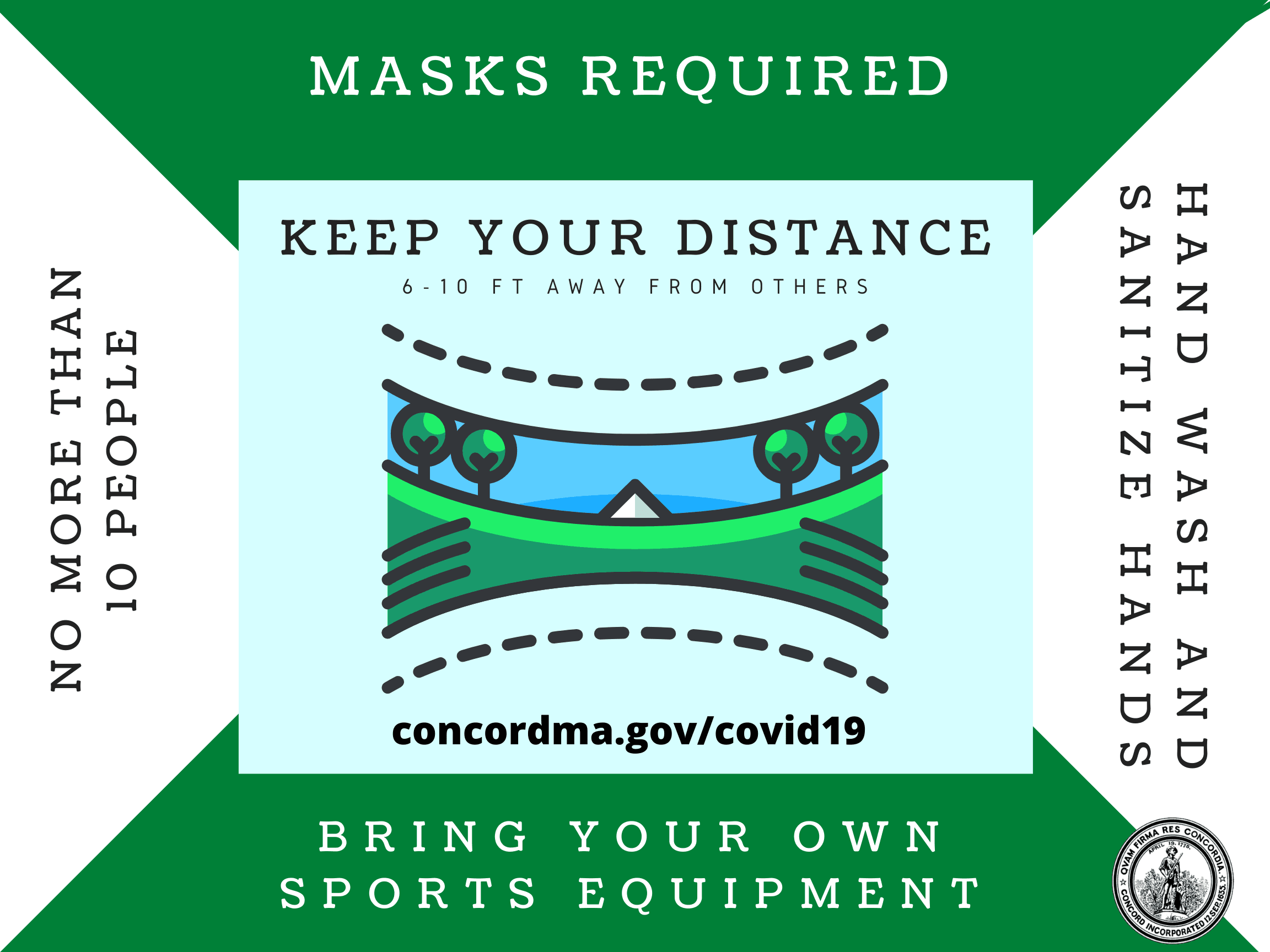 Keep your distance at parks and sport fields