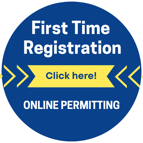 First Time registration button